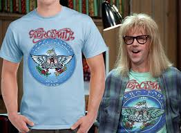 Halloween Costumes T Shirts by Wayne U0027s World Garth Halloween Costume Shirt Aerosmith Light Blue T