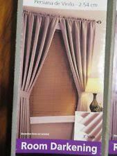 Room Darkening Vinyl Mini Blinds Mainstays Room Darkening Mini Blinds Khaki 31 X 72 Ebay