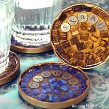 mosaic cocktail coasters running with sisters