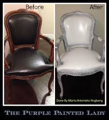 Leather Patches For Sofa Chalk Paint On Leather The Purple Painted Lady