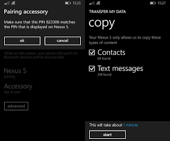 android migrate how to transfer personal data between android windows mobile
