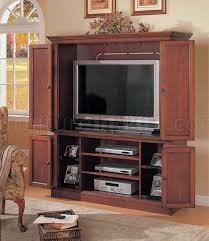 Tv Armoire Finish Contemporary Tv Armoire With Bottom Cabinet