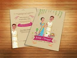 indian wedding card sles illustrated wedding invitation by sp senthil kumar dribbble