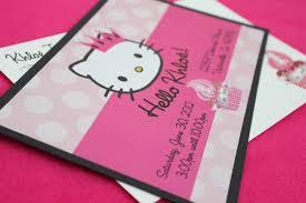 Customized Birthday Invitation Cards Personalized Hello Kitty Birthday Invitations Birthday Card