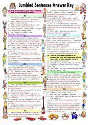 english worksheet jumbled sentences part 1 teaching
