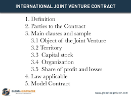 international joint venture contract contract template and sample