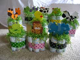 Baby Shower Centerpieces Ideas by For Twin Baby Shower Centerpieces Each Animal Set Is A Boy And