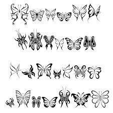 tribal butterflies dingbats tattoowoo com