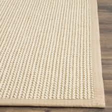 Wool Sisal Area Rugs Safavieh Fiber Collection Nf475b Woven Beige Wool