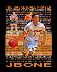 the basketball prayer personalized with photo basketball