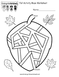 printable halloween mazes free kindergarten fall worksheets worksheets for a beautiful