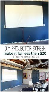 diy projector screen we are doing this craft ideas