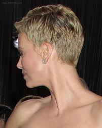 side and front view short pixie haircuts charlize theron super short pixie cut for pale blonde hair