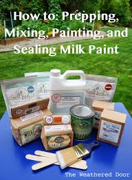 tips on prepping mixing painting and sealing milk paint the