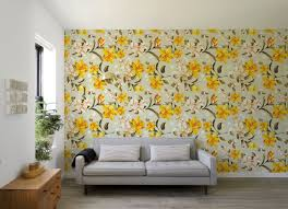 yellow peony self adhesive wallpaper floral removable flower zoom