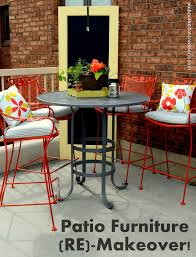 Dot Patio Furniture by Patio Furniture Re Makeover Pink Polka Dot Creations