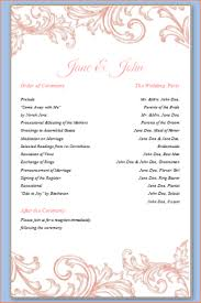 downloadable wedding program templates 6 wedding programs templates outline templates