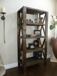 Wood Shelf Plans Basement by Rustic Bookcase Do It Yourself Home Projects From Ana White
