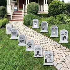 tombstones graveyard tombstone shaped lawn