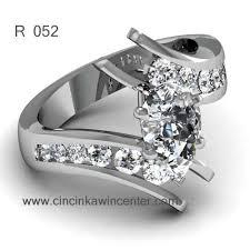 cincin emas putih cincin emas putih r 052 cincin kawin center