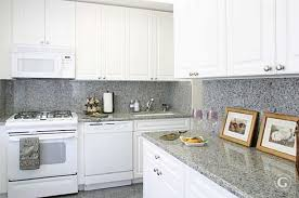 White Kitchen Cabinets White Appliances The Colors Of This Granite Is Not At All What We Would Ever Put
