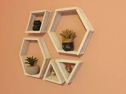 diy geometric wall shelves shelves patterns and craft
