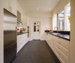 great kitchen with charming cabinets it s a galley kitchen but