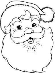 free printable santa face santa face coloring wood