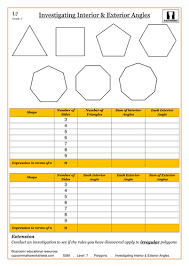 Finding Interior Angles Of A Polygon Worksheet Angles In Polygons By Cazoommaths Teaching Resources Tes