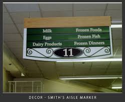 aisle markers new decor spina marketing