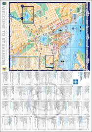 City Map Stavanger Guide Maps Stavanger City Map Norway English