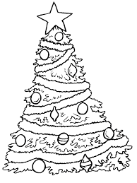 christmas tree colouring christmas tree coloring pages for