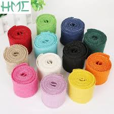 colored burlap ribbon 2m width 6cm colorful jute burlap ribbon jute fabric