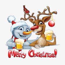 imagenes animadas de renos de navidad dibujos animados de navidad muñeco de nieve y renos vector material