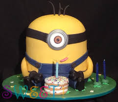 Minion Cake Decorations Sweet