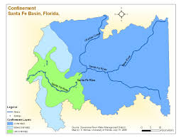 Florida District Map by Santa Fe Maps Suwannee Hydrologic Observatory