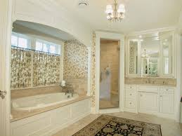 Wallpaper Ideas For Bathroom Bathroom Garden Tub Decorating Ideas With Ceiling Lighting Also