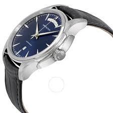 hamilton jazzmaster day date automatic blue s