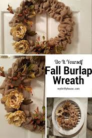 do it yourself fall burlap wreath along with a round up of burlap