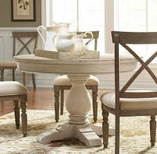 photo gallery of round design dining room tables sets viewing 2 aberdeen wood round dining table only in weathered worn white in round dining room tables