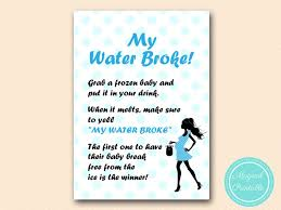my water baby shower blue dots boy baby shower magical printable