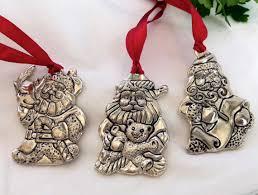 set of three 1831 gorham collectible silver santa claus
