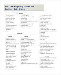 baby gift registry sle baby registry checklist 7 exles in pdf