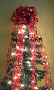 christmas tree bow christmas lights decoration