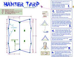 Woodsman Hammock Asymmetric Winter Tarp