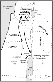 Judea Map The Bible Journey Jesus Starts His Ministry