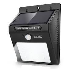 baxia technology solar motion sensor night lights waterproof