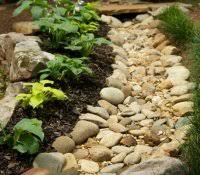 multi colored landscape rocks best time to mulch flower beds home