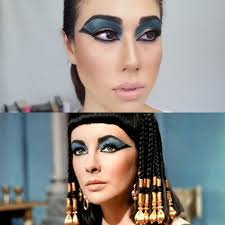 classic elizabeth taylor cleopatra halloween makeup tutorial for