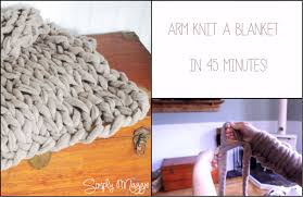 how to arm knit a blanket in 45 minutes home and gardening ideas